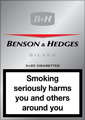 Benson & Hedges Silver Cigarettes pack