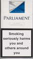 Parliament Super Slims Silver Cigarettes pack