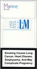 L&M MIXX BLue Marin Super Slims Cigarettes pack