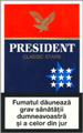 President Classic Stars Cigarettes pack