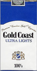 GOLD COAST ULTRA LIGHT SP 100 Cigarettes pack
