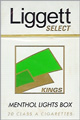 LIGGETT SELECT LT MENT BX KING Cigarettes pack