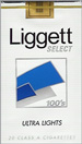LIGGETT SELECT ULTRA LT SF 100 Cigarettes pack