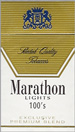 MARATHON LIGHT BOX 100 Cigarettes pack