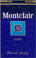 MONTCLAIR LIGHT KING Cigarettes pack