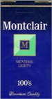 MONTCLAIR LIGHT MENTHOL 100 Cigarettes pack
