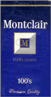 MONTCLAIR ULTRA LIGHT 100 Cigarettes pack