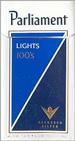 PARLIAMENT RC LIGHT BOX 100 Cigarettes pack